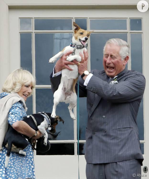 Il en faut peu à Charles et Camilla pour s'amuser.
