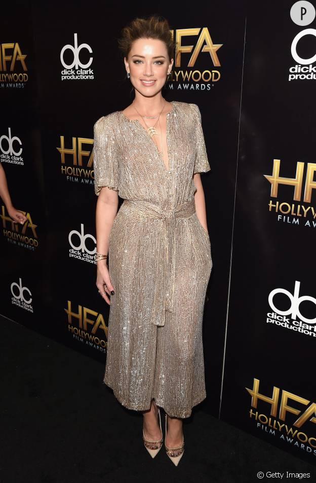 Amber Heard aux Hollywood Film Awards, le 1er novembre 2015 à Los Angeles.