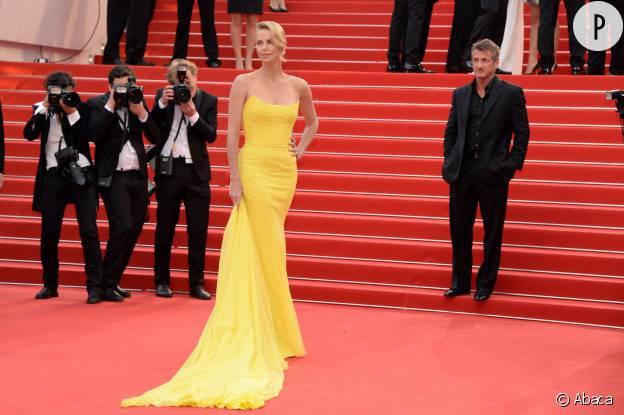 Charlize Theron en robe Christian Dior Couture au Festival de Cannes 2015.