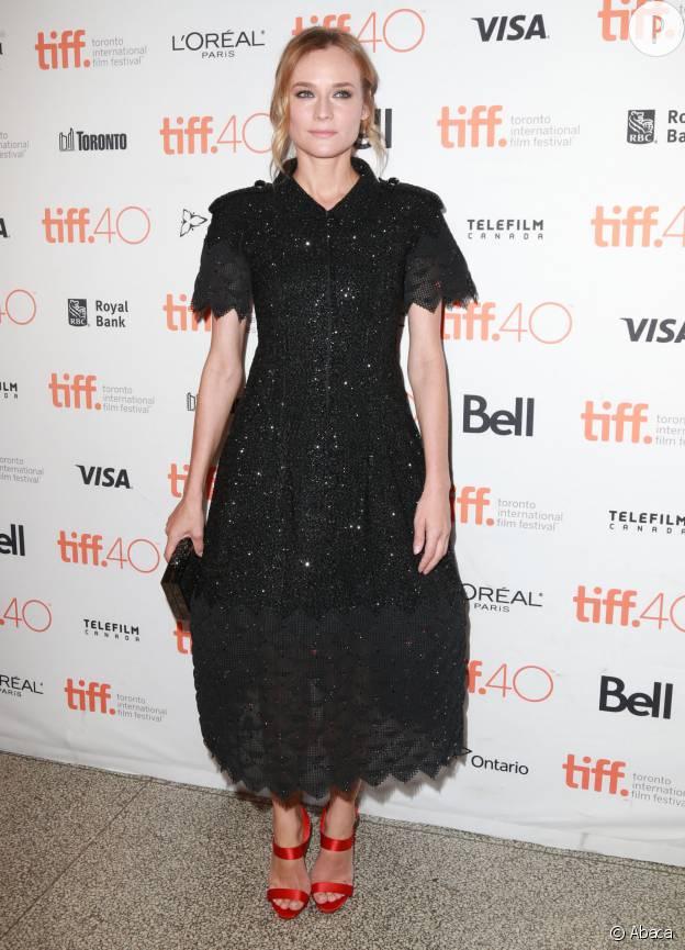 Diane Kruger en robe Chanel Haute Couture au Festival du film de Toronto, en septembre 2015.