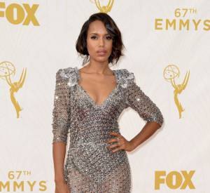 Kerry Washington en robe Marc Jacobs lors de Emmy Awards 2015.
