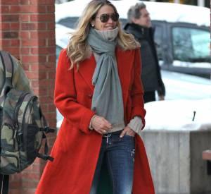 Elle Macpherson super lookée pour affronter le froid d'Aspen.
