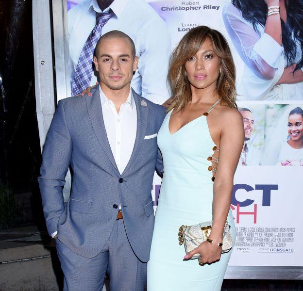 """Jennifer Lopez et Casper Smart à l'avant-première du film """"Perfect Match"""" à Los Angeles ce lundi 7 mars 2016."""