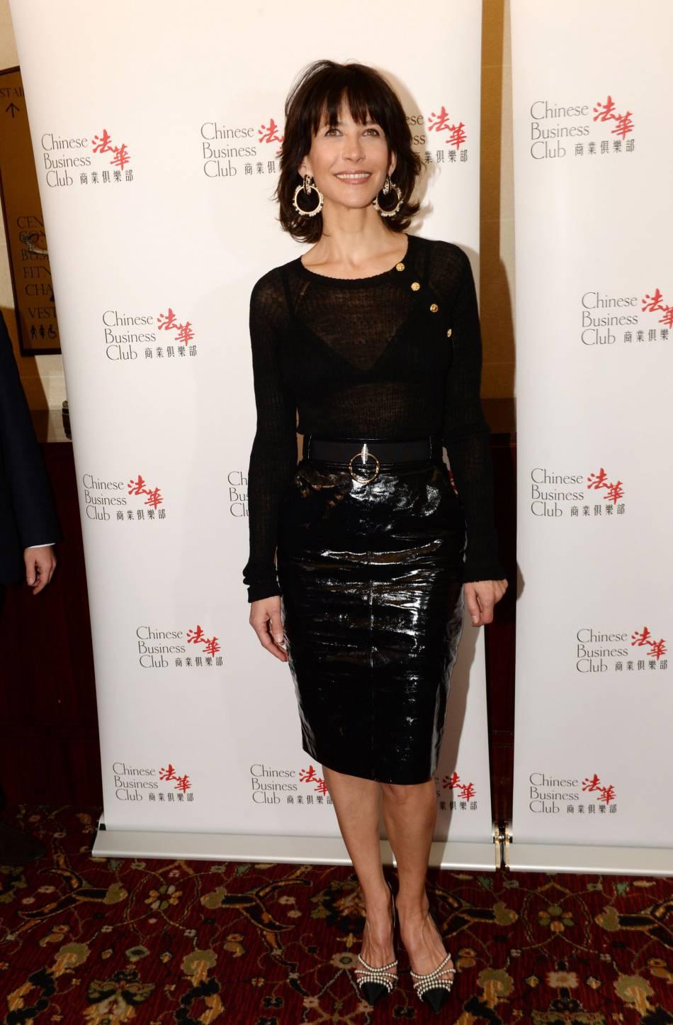 Sophie Marceau au déjeuner organisé par le Chinese Business Club pour la journée des droits des femmes le 8 mars à Paris.