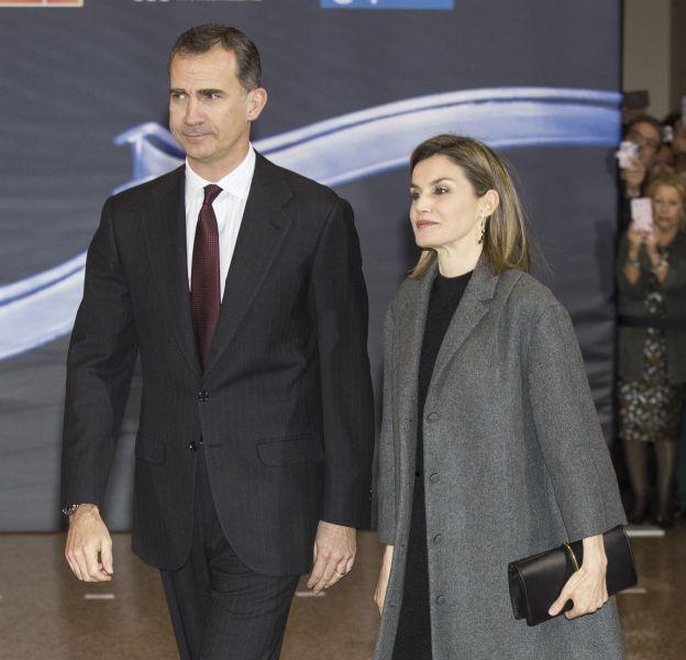 Letizia Ortiz et le roi Felipe VI à l'auditorium national de musique ce jeudi 10 mars 2016.