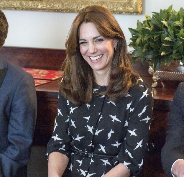 Kate Middleton lors d'une visite officielle à l'hôpital St Thomas de Londres le 10 mars 2016.
