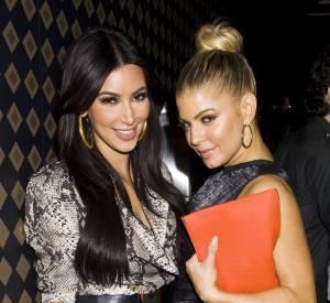 Kim Kardashian et Fergie, copines de longue date.