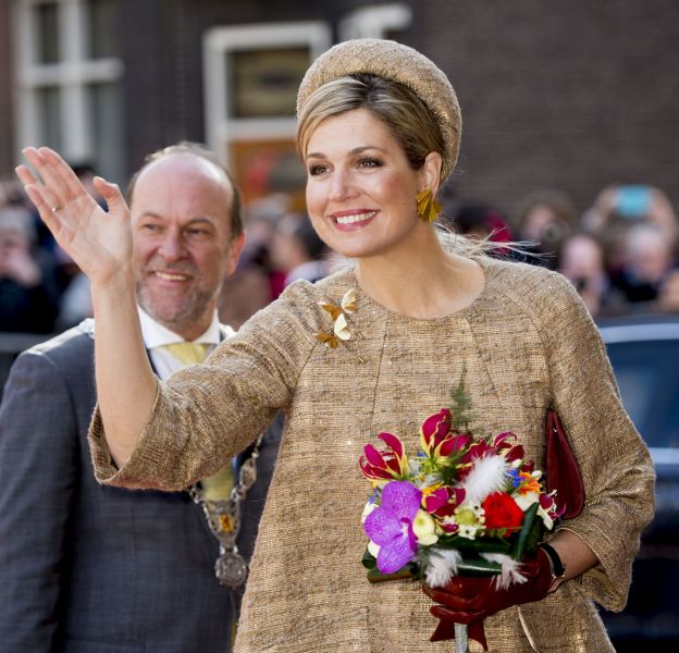 """Maxima des Pays-Bas à la cérémonie des """"Thirtieth Geuzenpenning"""" ce lundi 14 mars 2016."""