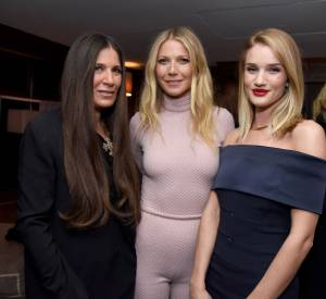 La styliste Elizabeth Saltzman, Gwyneth Paltrow et Rosie Huntington-Whiteley.