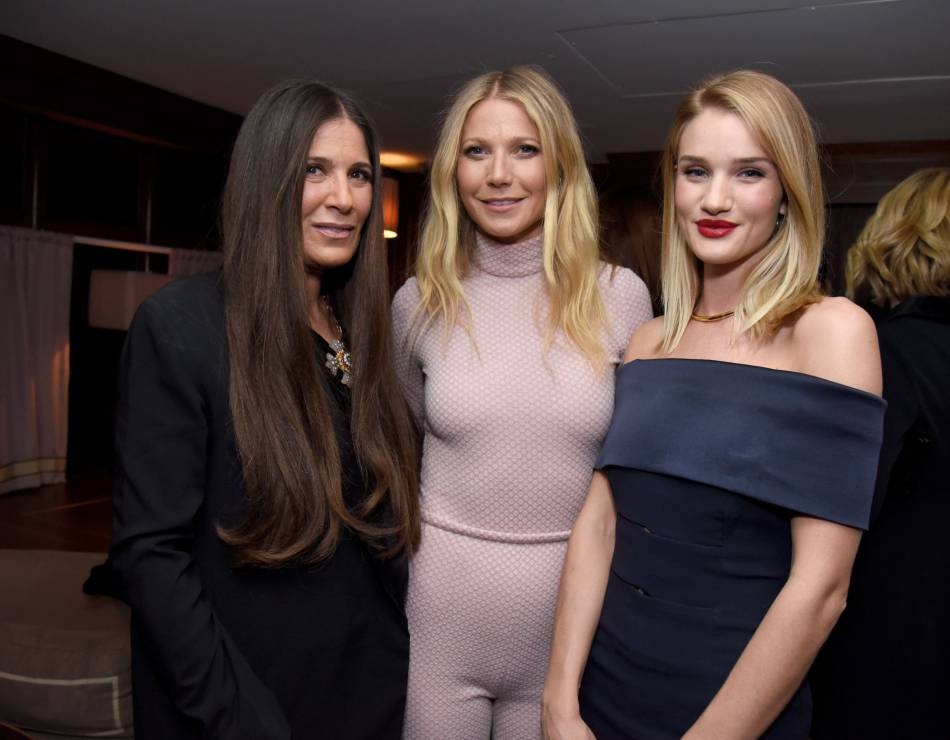 La styliste Elizabeth Saltzman, Gwyneth Paltrow et Rosie Huntington-Whiteley.