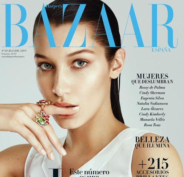 Bella Hadid prend la pose pour le numéro d'avril du Harper's Bazaar espagnol.