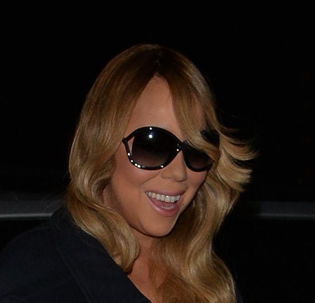 Mariah Carey arrive à son hôtel ce vendredi 18 mars après un concert à Manchester.