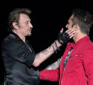 Johnny Hallyday et son fils, David, qui a souffert de ce père absent.