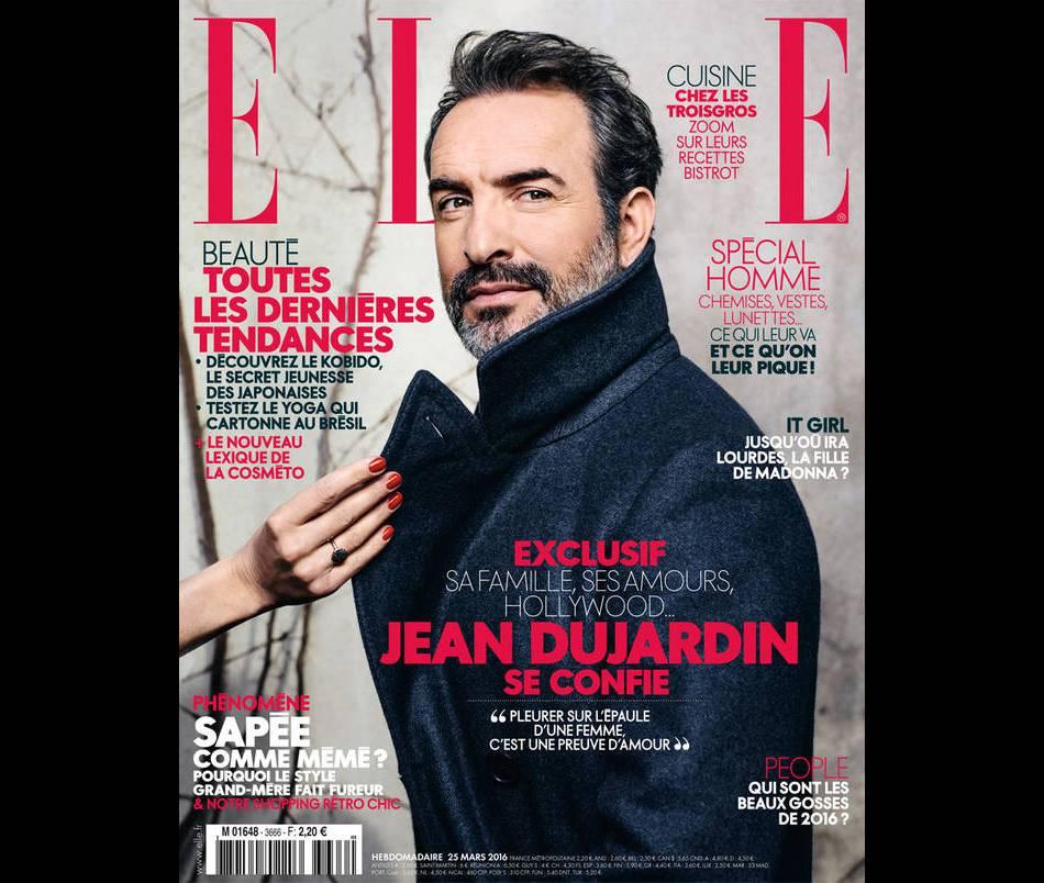 Jean Dujardin se confie avec honnêteté dans le dernier numéro de  ELLE .