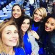 Iris Mittenaere a retrouvé Camille Cerf, Flora Coquerel, Marine Lorphelin et Sylvie Tellier pour jouer les supportrices de charme au Stade de France.