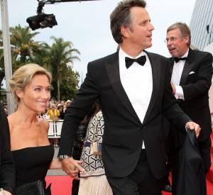 Anne-Sophie Lapix et son époux, le publicitaire Arthur Sadoun, à Cannes en 2015.