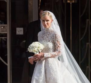 La petite soeur de Paris s'est mariée en juin dernier dans une robe signée Valentino.