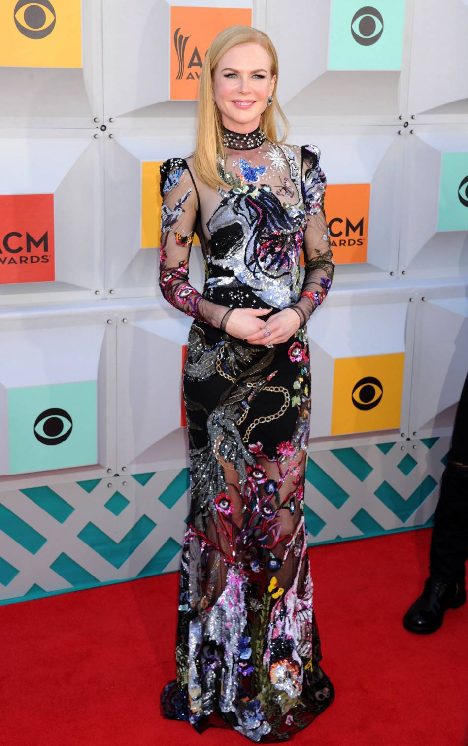 Nicole Kidman, nue sous sa robe Alexander McQueen dimanche aux Academy of Country Music Awards.