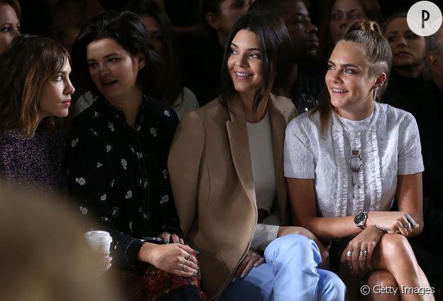 Alexa Chung, Pixie Geldolf, Kendall Jenner ou Cara Delevingne, elles sont toutes au défilé Topshop Unique !