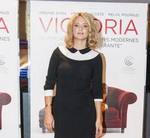 Virginie Efira a opté pour un total look noir et blanc lors de cette avant-première.