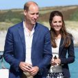 La duchesse de Cambridge Kate Middleton et le Prince William à St Martin's, sur les îles Scilly, ce vendredi 2 septembre.