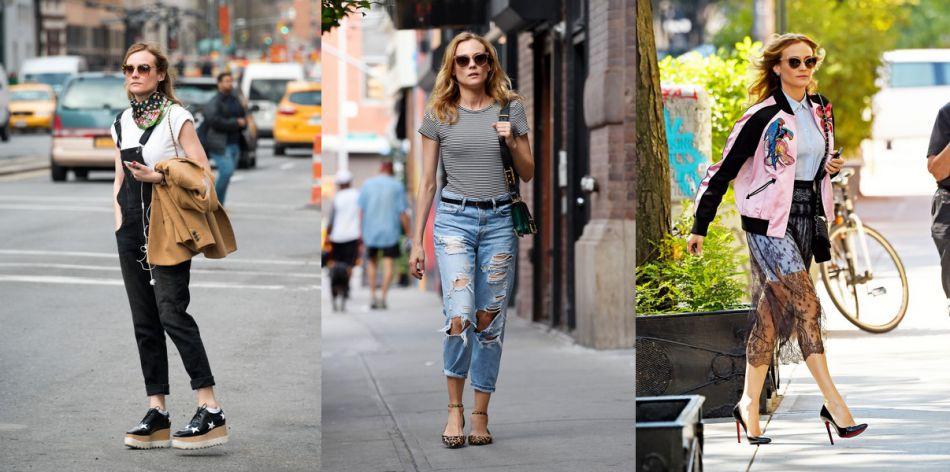 Les 10 plus beaux street styles de Diane Kruger.