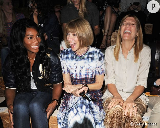 Serena Williams fait rire Anna Wintour.