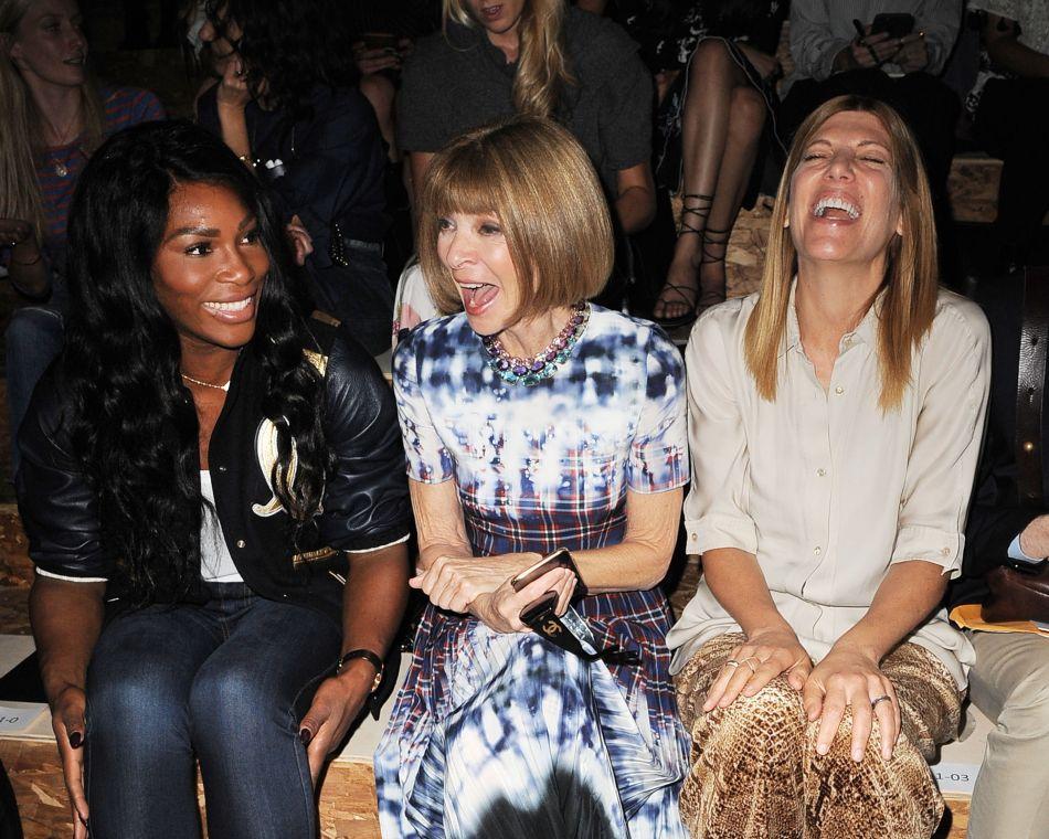 Serena Williams fait rire Anna Wintour.