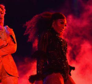 Aux côtés de Beyoncé, Serena Williams fait le show.