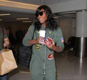 Combinaison ultra-tendance, Serena Williams suit le mouvement mode.