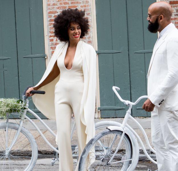 Solange Knowles s'est mariée dans une combinaison blanche très stylée.