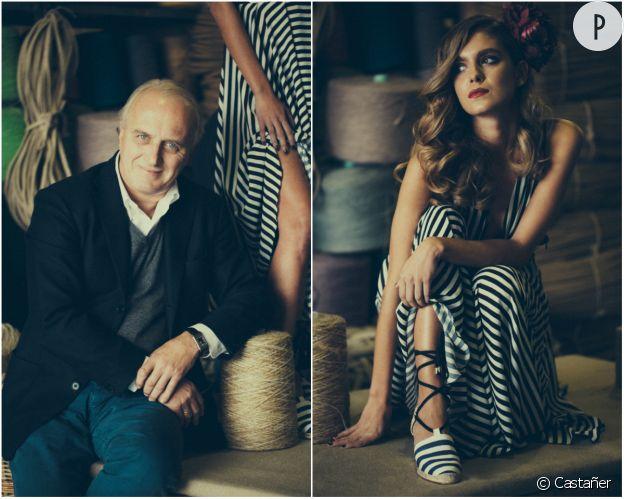 Luis Castañer et le mannequin Dolores Doll.