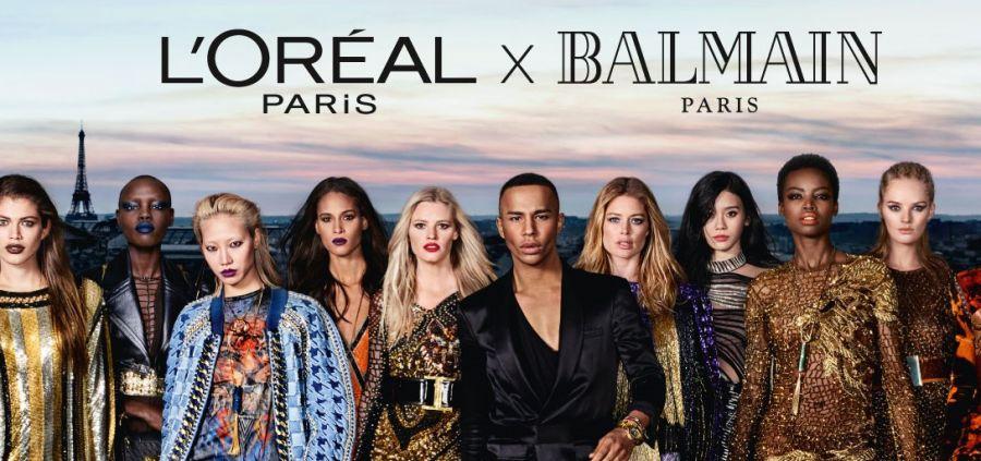 L'Oréal Paris x Balmain : l'affiche de la campagne dévoilée