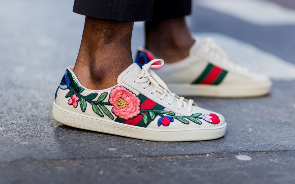 10 paires de baskets brodées pour les fans des Gucci.