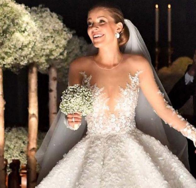 La robe de mariée de Victoria Swarovski bat