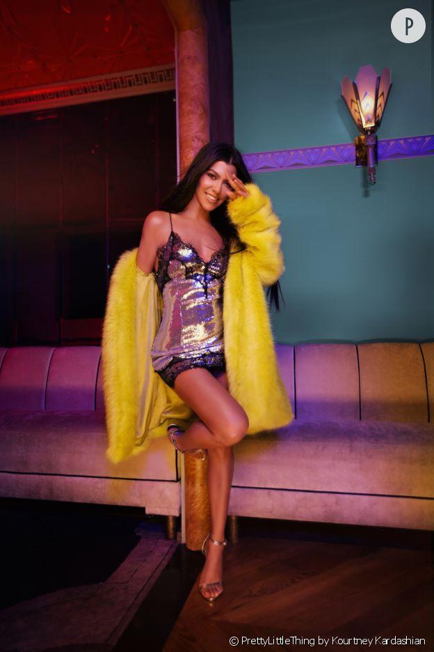 Kourtney Kardashian dévoile sa collection pour PrettyLittleThing.