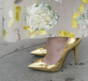 Escarpins dorés : 6 façons d'oser !