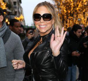 Mariah Carey est rayonnante pour son arrivée à Paris.