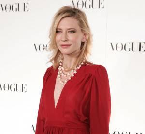 Cate Blanchett, un look vintage en Ossie Clark