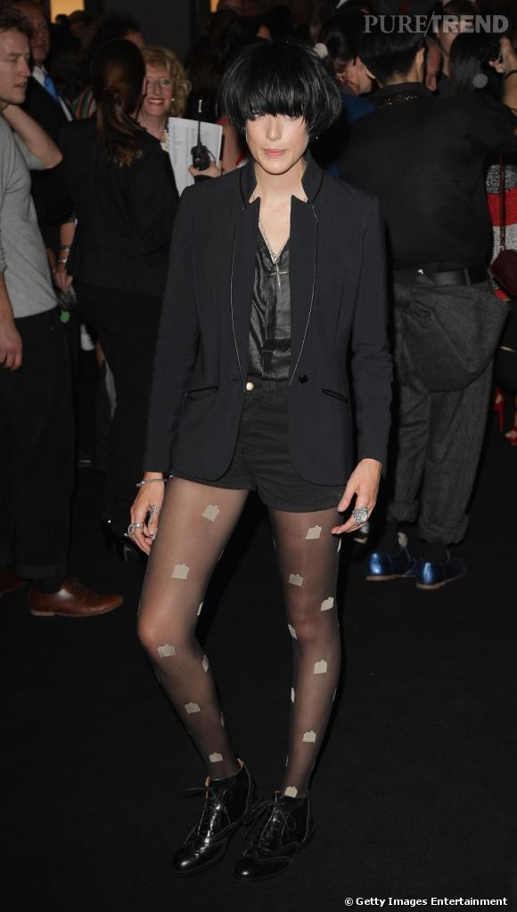Agyness Deyn au défilé House of Holland pendant la Fashion Week de Londres