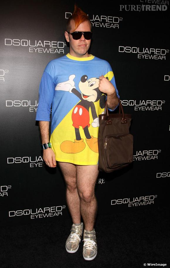 Perez Hilton au défilé Dsquared2