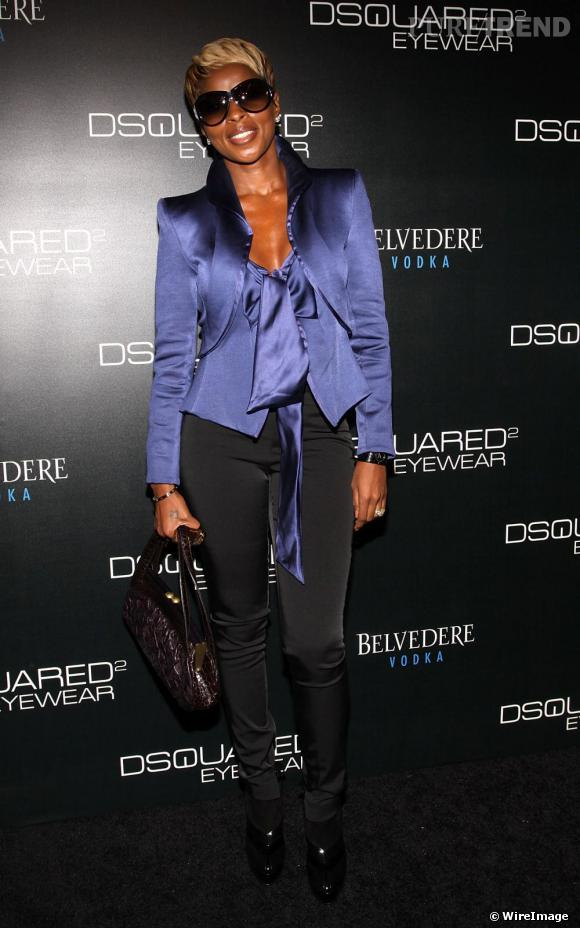 Mary J Blige au défilé Dsquared2