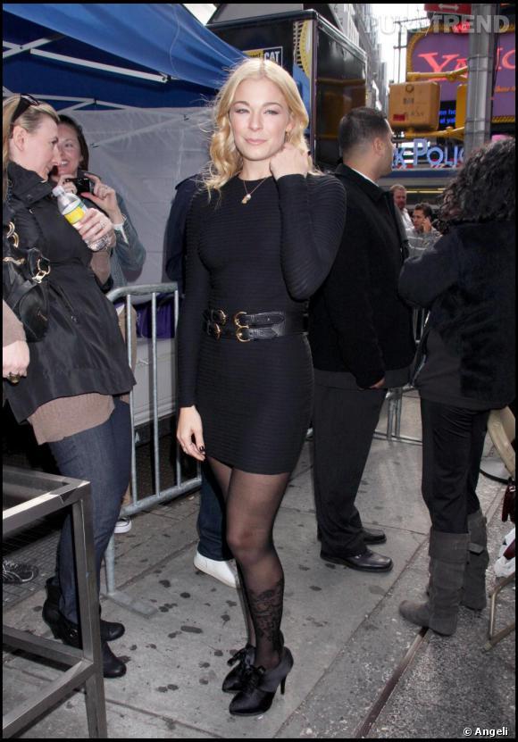 Leann Rimes à la soirée Yahoo Yodelling à New-York