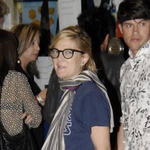 Toujours très décalée, Drew Barrymore adopte la tendance geek avec un t-shirt Star Wars.