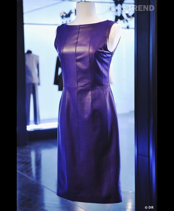 Défilé  Cerruti   , Printemps-Eté 2010, Paris   Cerruti nous a habitué au vestiaire chic et professionnel. Une robe bleu nuit, coupe minimaliste, aux lignes droites, imaginée pour une femme énergique et décidée. Le bleu de l'autorité et du pouvoir, en somme !