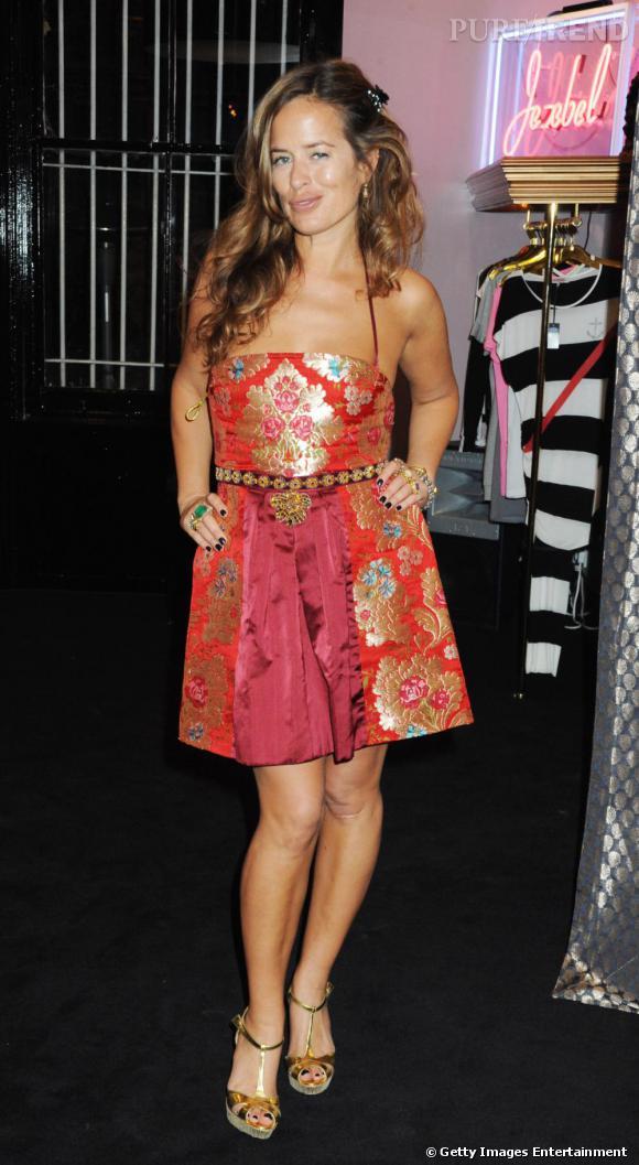 Jade Jagger à la soirée d'inauguration de sa boutique à Londres