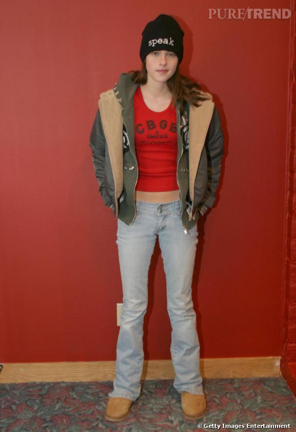Le même look d'adolescente. Comme aujourd'hui, Kristen n'était pas trop attirée par le style girly, mais plutôt rebelle casual.