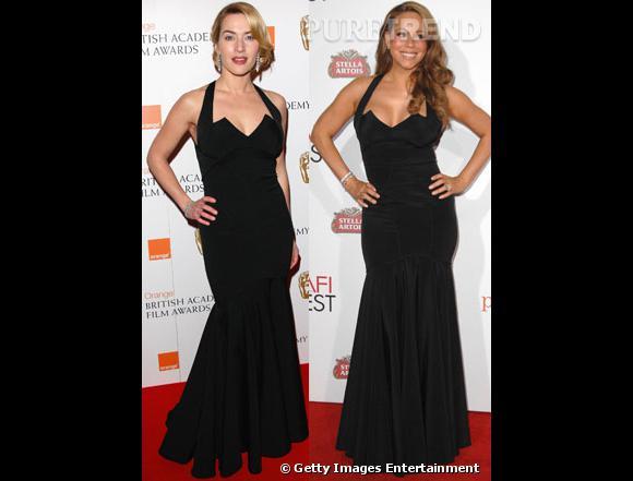Entre Mariah Carey et Kate Winslet, qui porte le mieux la robe fourreau ?
