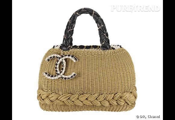 Sac Chanel       A la fois urbain et champêtre, le It-bag de Chanel n'est pas en cuir matelassé cet été mais en osier tressé.       Prix :  3350€