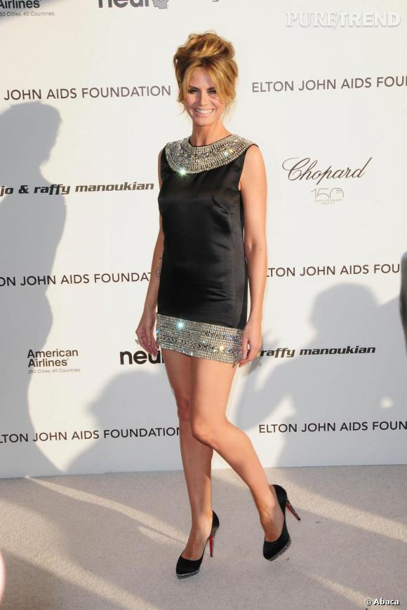 Heidi Klum lors de la soirée de la fondation Elton John à Los Angeles
